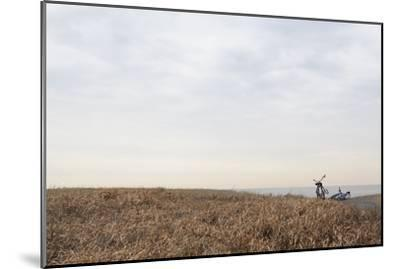 Bicycle that Was Left on the Beach Side-Hiroshi Watanabe-Mounted Premium Photographic Print