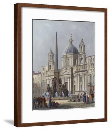 Rome, S'Agnese C1840-G B Moore-Framed Giclee Print