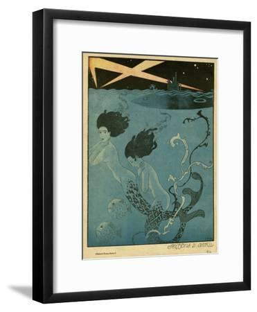 Mermaids and U-Boats-Georges Barbier-Framed Giclee Print