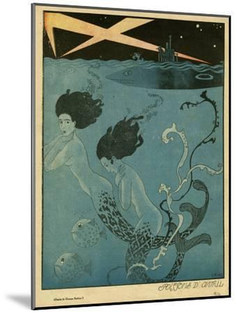 Mermaids and U-Boats-Georges Barbier-Mounted Giclee Print