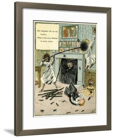 Naughty Children Making a Mess-Harry Furniss-Framed Giclee Print