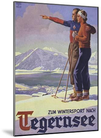 German Ski Poster-Harry Mayer-Mounted Giclee Print