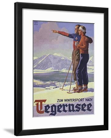 German Ski Poster-Harry Mayer-Framed Giclee Print