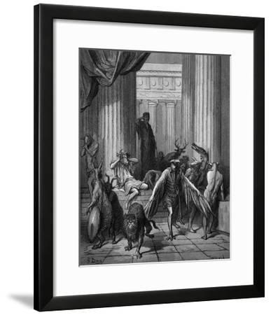 Circa Turning Men into Beasts-Gustave Dor?-Framed Giclee Print