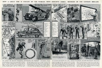 London Fire Brigade's Organisation and Equipment-George Horace Davis-Stretched Canvas Print