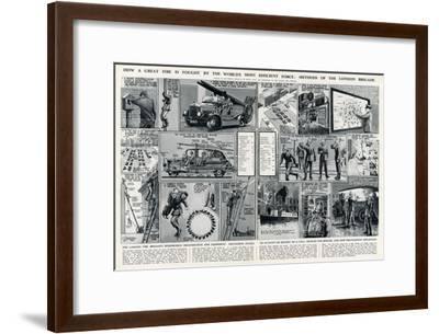 London Fire Brigade's Organisation and Equipment-George Horace Davis-Framed Premium Giclee Print