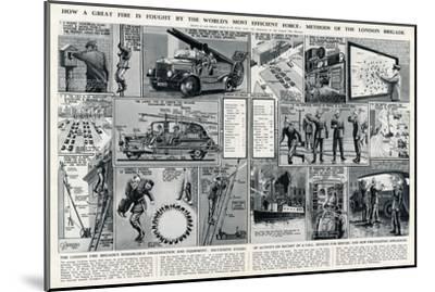 London Fire Brigade's Organisation and Equipment-George Horace Davis-Mounted Premium Giclee Print