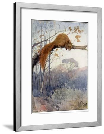 Squirrel in Tree C1917-Honor C. Appleton-Framed Giclee Print