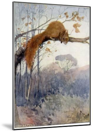 Squirrel in Tree C1917-Honor C. Appleton-Mounted Giclee Print
