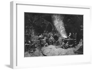 A Magician with Witches and Wizards-J Benllieure-Framed Giclee Print