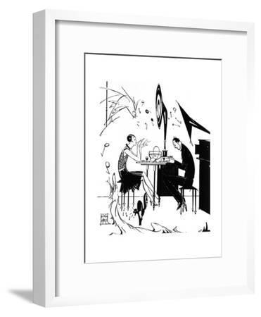 Jazz Music While You Dine, 1929-Joyce Mercer-Framed Giclee Print