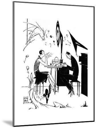 Jazz Music While You Dine, 1929-Joyce Mercer-Mounted Giclee Print