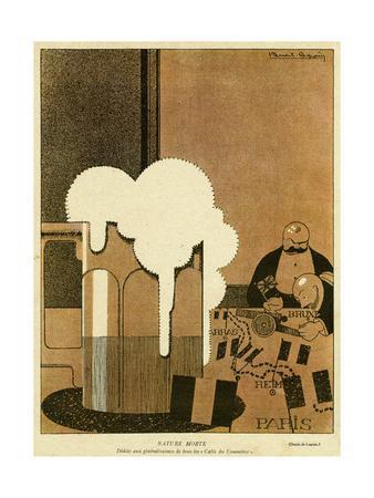 Saloon-Bar Strategists-Pierre Legrain-Framed Giclee Print
