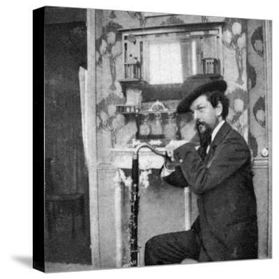 Debussy Photo-Pierre Louys-Stretched Canvas Print
