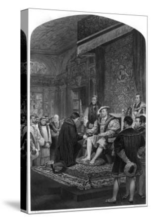 Cranmer's Bible, Henry 8-Peter Lightfoot-Stretched Canvas Print