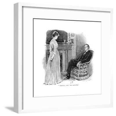 Holmes and Mrs. St. Clair-Sidney Paget-Framed Giclee Print