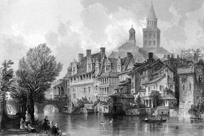 France Perigueux-Thomas Allom-Stretched Canvas Print