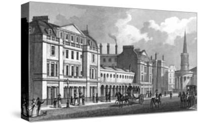 Langham Place-Thomas H Shepherd-Stretched Canvas Print