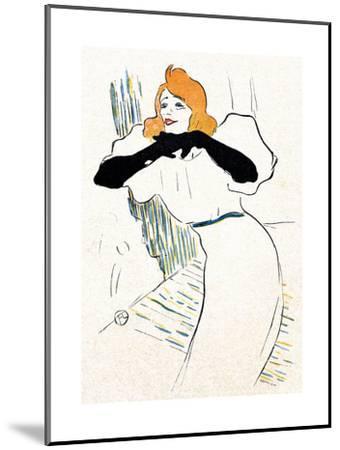 Yvette Guilbert, Lautrec-Henri de Toulouse-Lautrec-Mounted Giclee Print