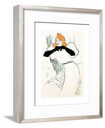 Yvette Guilbert, Lautrec-Henri de Toulouse-Lautrec-Framed Giclee Print