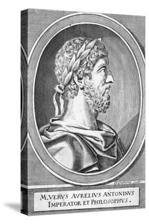 Marcus Aurelius-W Faithorne-Stretched Canvas Print