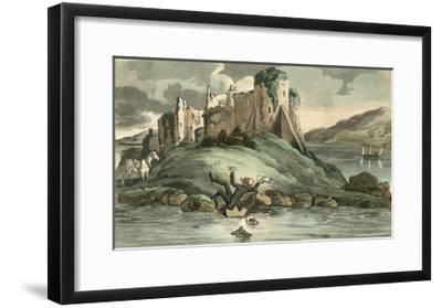 Dr Syntax Tumbling into the Water-Thomas Rowlandson-Framed Giclee Print