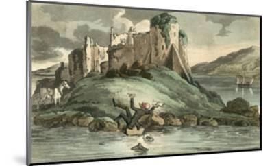 Dr Syntax Tumbling into the Water-Thomas Rowlandson-Mounted Giclee Print