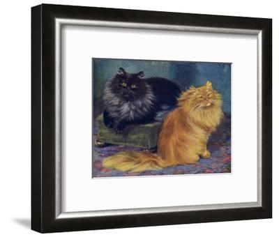 Smoke, Orange Persians-W^ Luker-Framed Giclee Print
