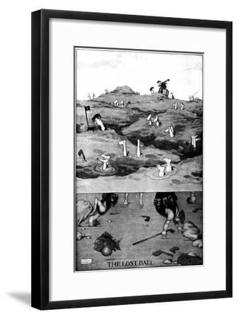 The Lost Ball - Heath Robinson Cartoon-William Heath Robinson-Framed Giclee Print