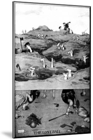 The Lost Ball - Heath Robinson Cartoon-William Heath Robinson-Mounted Giclee Print
