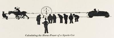 Calculating Horse Power-William Heath Robinson-Stretched Canvas Print