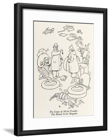 Car Trouble-William Heath Robinson-Framed Giclee Print
