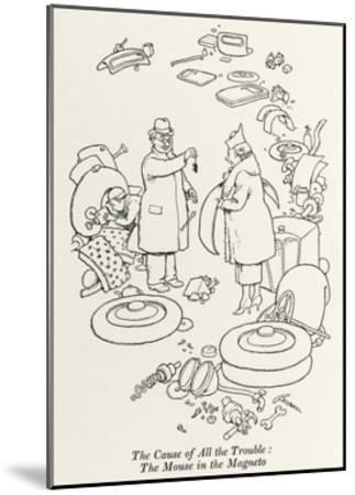 Car Trouble-William Heath Robinson-Mounted Giclee Print