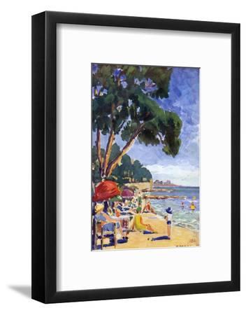 Beach Scene at Juan-Les-Pins--Framed Giclee Print