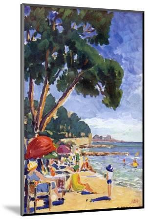 Beach Scene at Juan-Les-Pins--Mounted Giclee Print