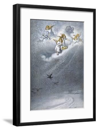 Angels Make Snow--Framed Giclee Print
