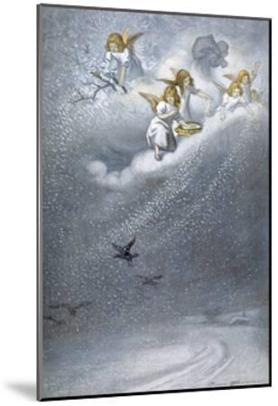 Angels Make Snow--Mounted Giclee Print