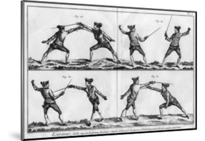 Fencing Positions--Mounted Giclee Print