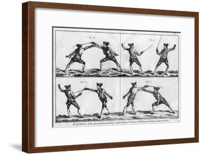 Fencing Positions--Framed Giclee Print