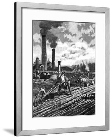 Robots as the Farm Workers of the Future--Framed Giclee Print