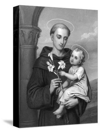 Antony of Padua--Stretched Canvas Print