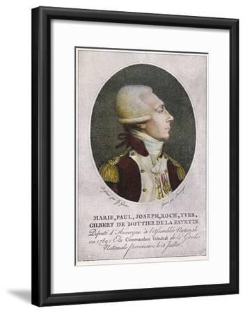 Marquis de Lafayette--Framed Giclee Print