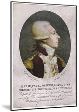 Marquis de Lafayette--Mounted Giclee Print