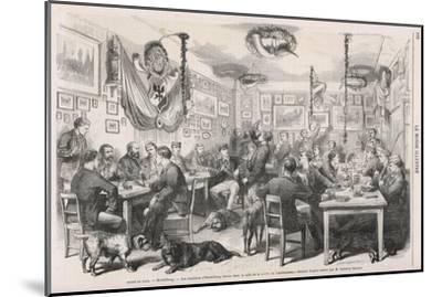Heidelberg University Students 1870--Mounted Giclee Print
