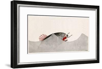 Jonah and the Whale-AE Marty-Framed Giclee Print
