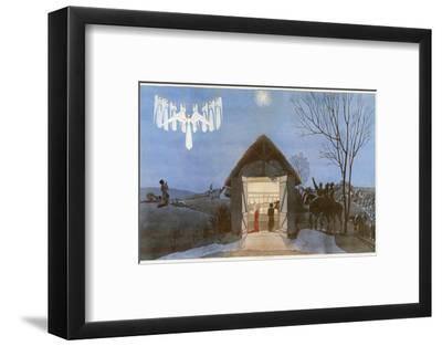 The Nativity-AE Marty-Framed Giclee Print