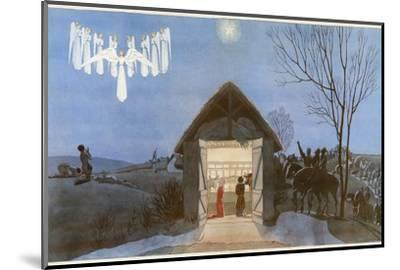 The Nativity-AE Marty-Mounted Giclee Print