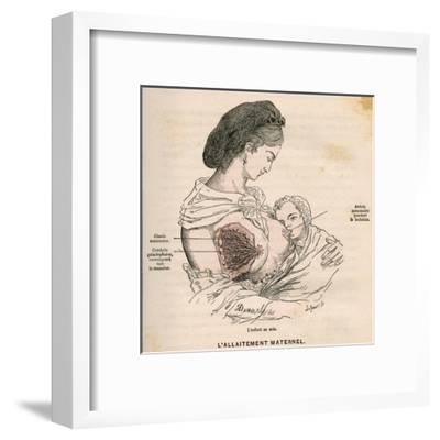 Mother Breastfeeding 19C-A. Demarle-Framed Giclee Print