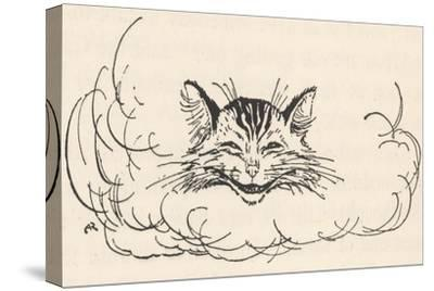 Alice: Cats Head in Cloud-Arthur Rackham-Stretched Canvas Print