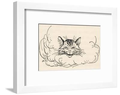 Alice: Cats Head in Cloud-Arthur Rackham-Framed Giclee Print